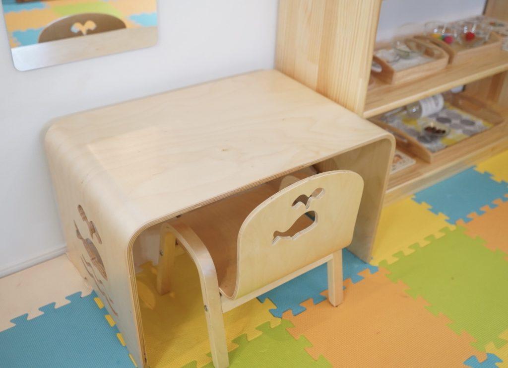 おうちモンテで幼児机と椅子を配置するとどうなる?