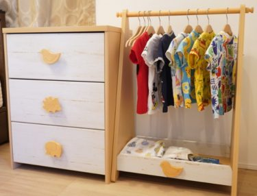 子どもが自分で選べる!モンテッソーリ環境におすすめの洋服収納レビュー