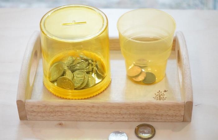 教具例④ コイン落とし