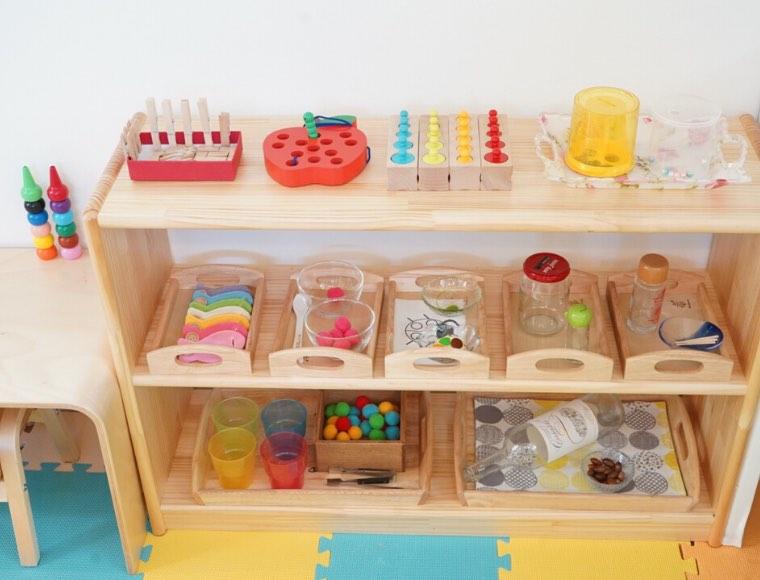 おうちモンテッソーリ棚と2歳児の興味を満たす教具例12選【実例】