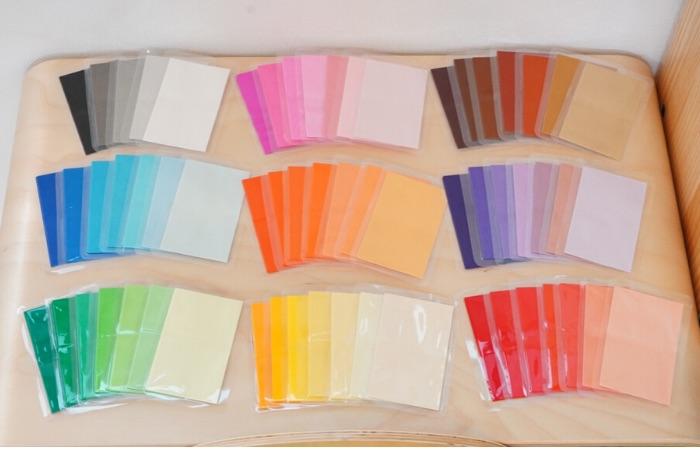 モンテッソーリの色板を手作りで作る方法