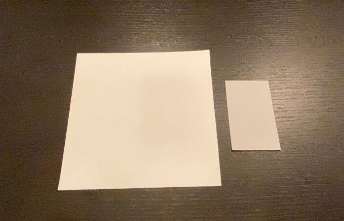 名刺サイズのカード