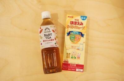 麦茶と粉ミルク